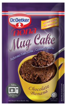 Mug Cake Chocolate Banana