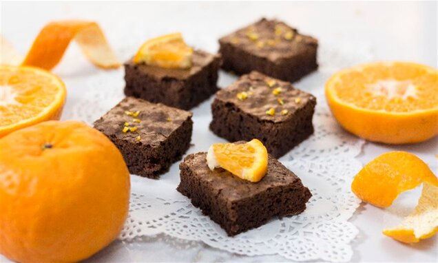 mandarin orange brownies