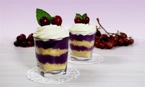 Grape Cake Pudding in Glass