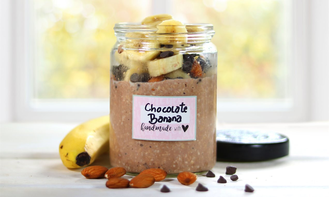 chocolate banana overnight oats
