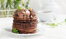Ice Cream Chocolate Pancakes