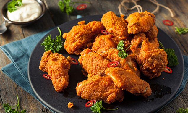 super hot spicy chicken wings