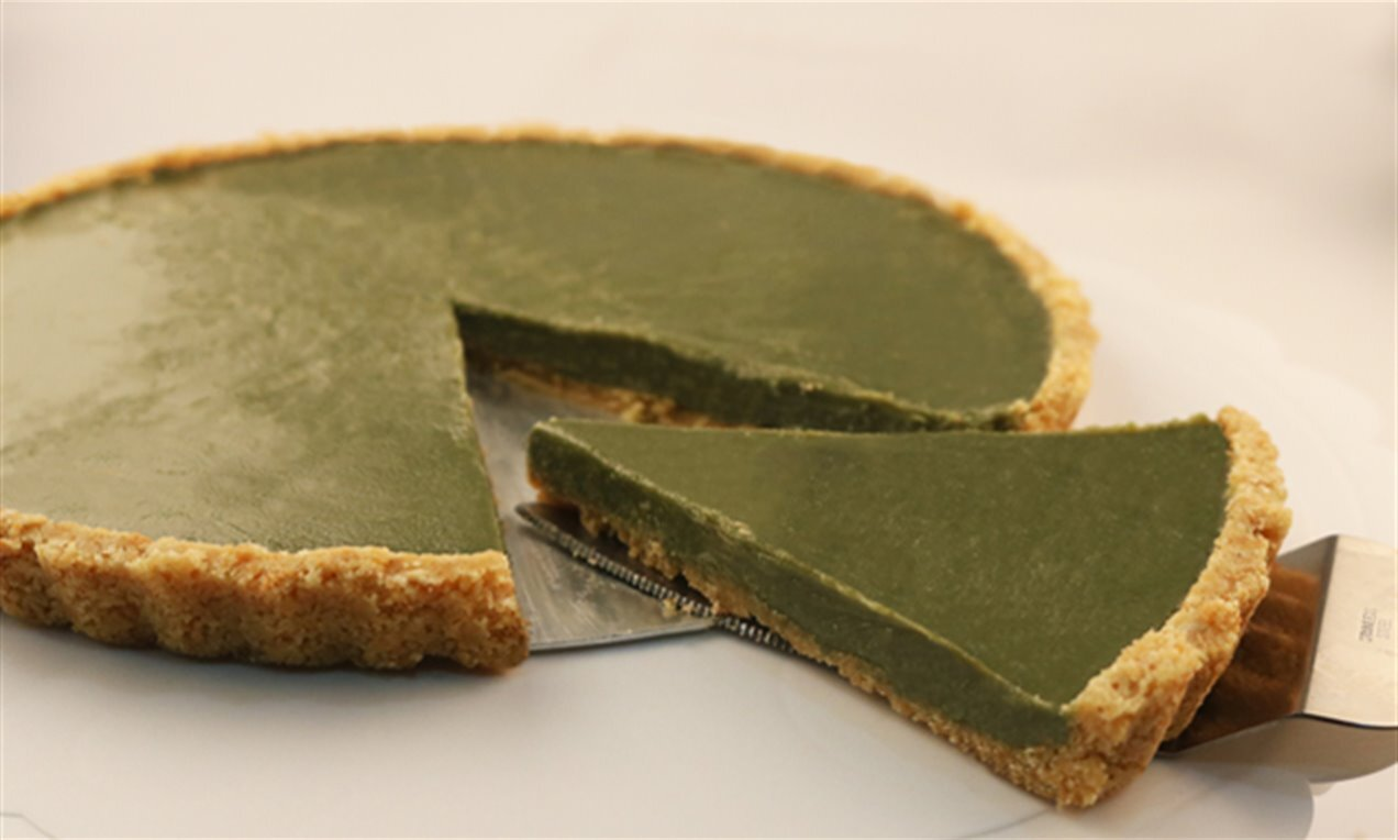 no bake matcha pie